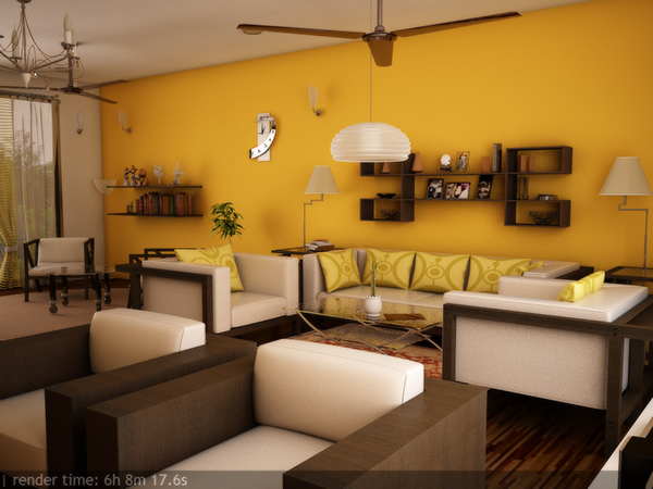 Interior design in 3ds max using vray on behance for Decoration 3ds max