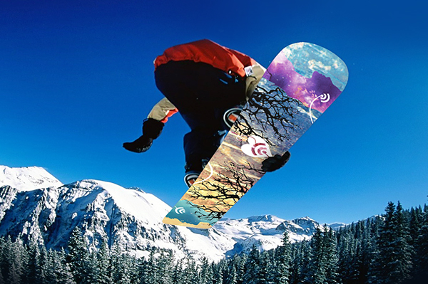 snowboard signal FIDM contest Pleedesigner watercolor paint relationship dream sport graphic santa monica Barker Hangar Student work
