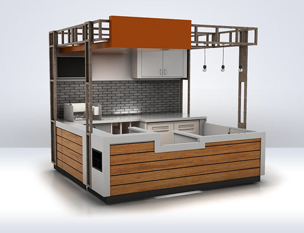Custom Cabinet Millwork Modeling Of Commercial Kitchen On
