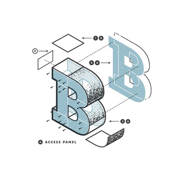 exploded  letters  alphabet  diagram