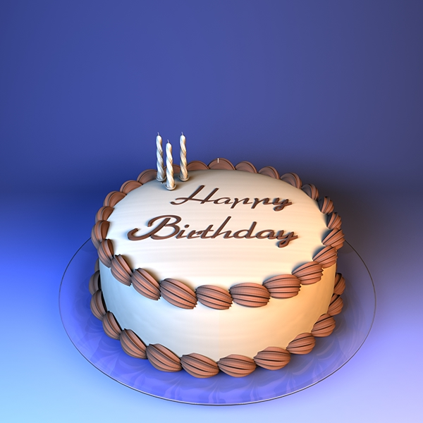Birthday Chocolate Cakes In 3d On Behance