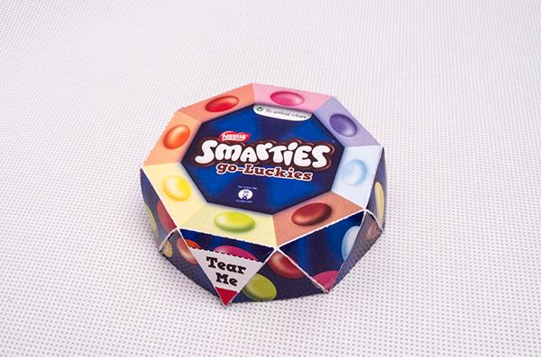 Smarties Go-Luckies on Pantone Canvas Gallery Smarties Box Design