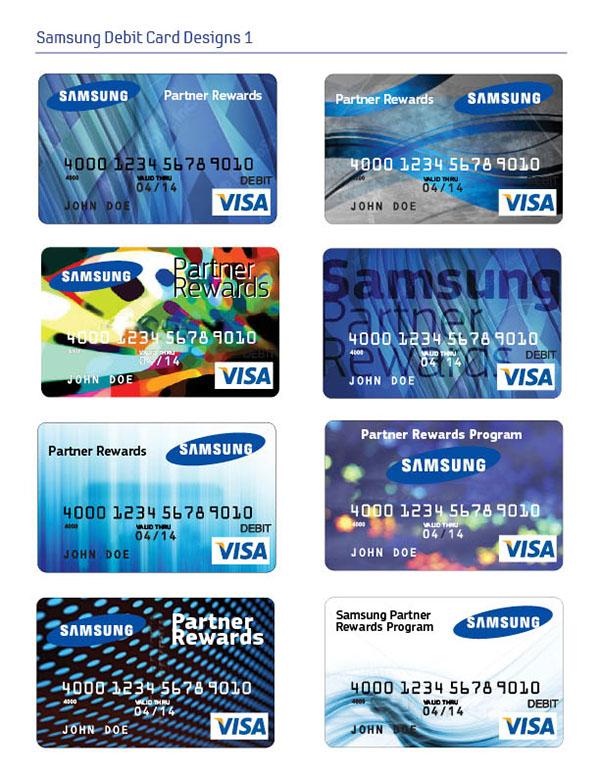 samsung partner rewards debit card design on behance - Debit Card Rewards
