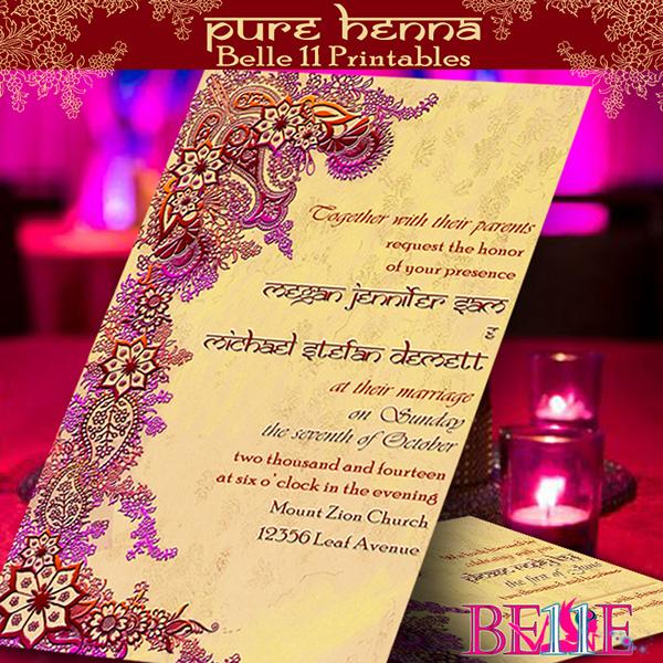 Printable Invitation Henna Bollywood Indian Theme On Behance