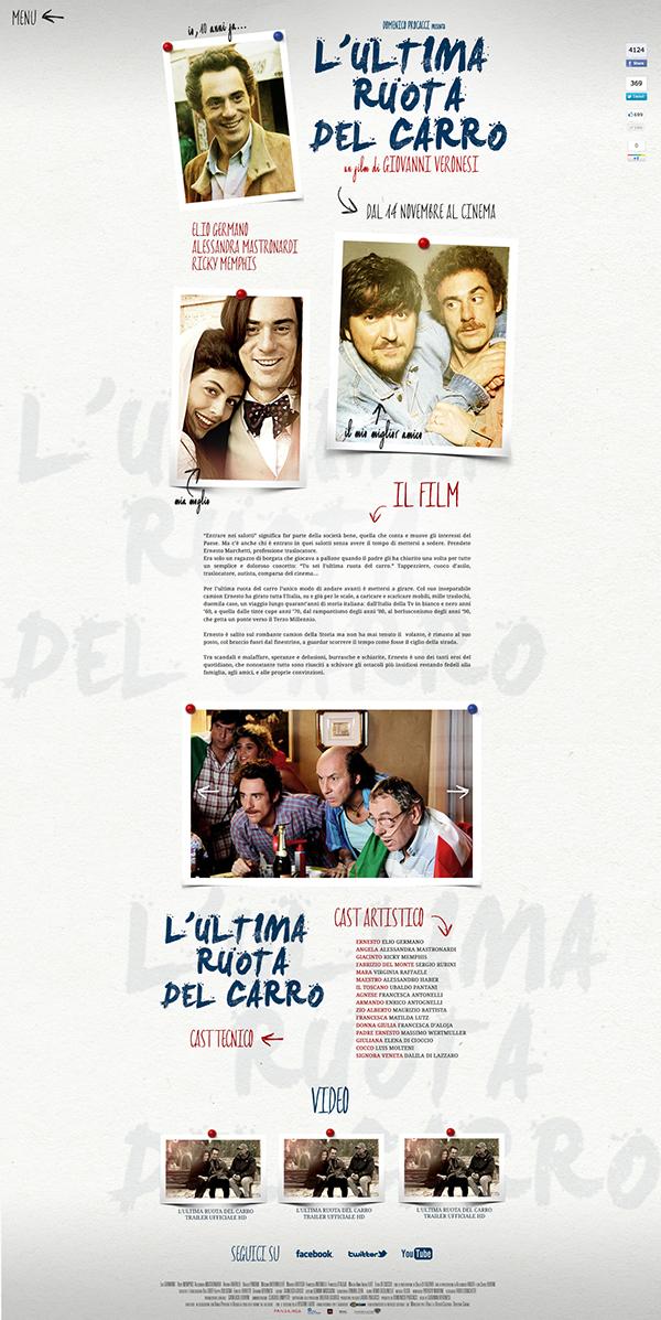 movie Website Webdesign onepage