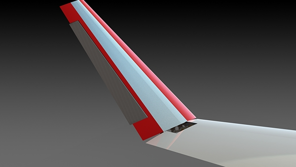 Boeing 737 Boeing morphing winglet morphlet FEA bird flight wing Wing tip primary feathers
