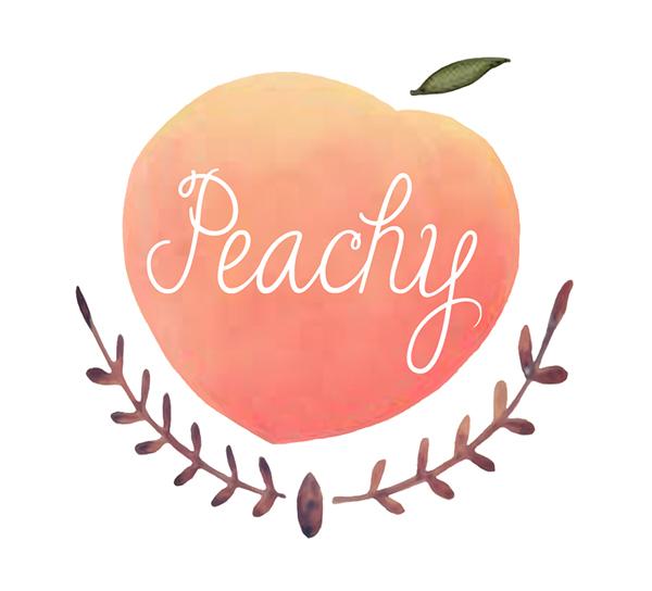 Just Peachy Studio Logo Design By Tina Schofield