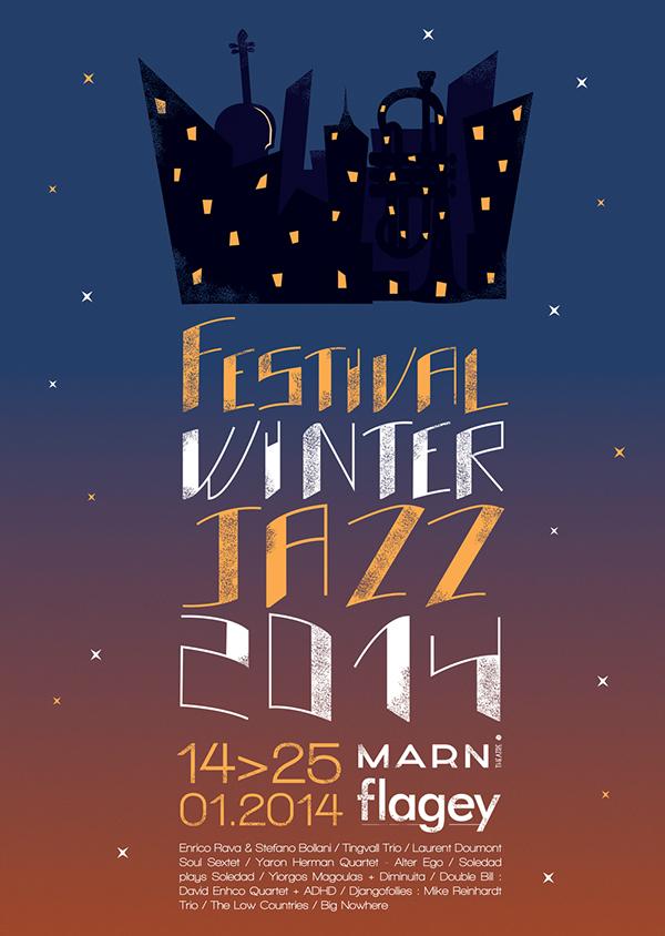 festival winter jazz poster on behance. Black Bedroom Furniture Sets. Home Design Ideas
