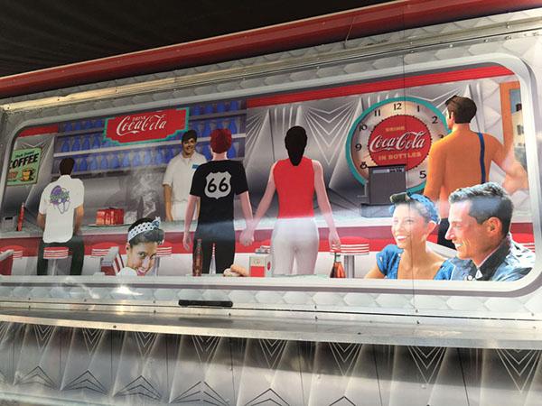 1950s Diner Food Truck on Pantone Canvas Gallery