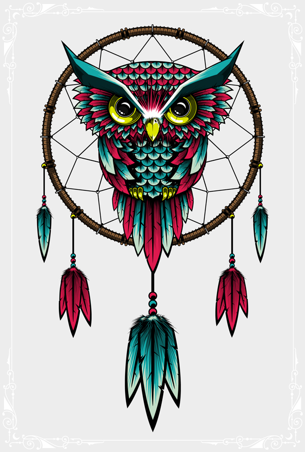 Dreamcatcher on behance for Dream catcher graphic