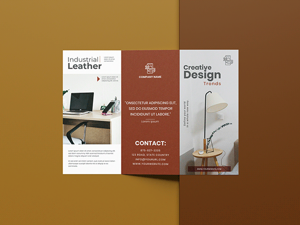 Business Trifold Brochure.