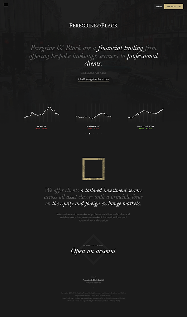 Webdesign Responsive mobile black