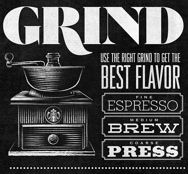 Starbucks home brew typographic mural on behance for Thank you mural