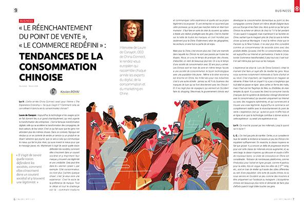 Illustration of le9 magazine