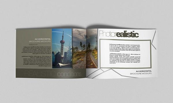 horizontal brochure template - brochure mockups a4 horizontal on behance