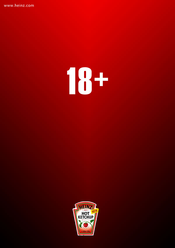 heinz ketchup campaign minimal Hot spicy