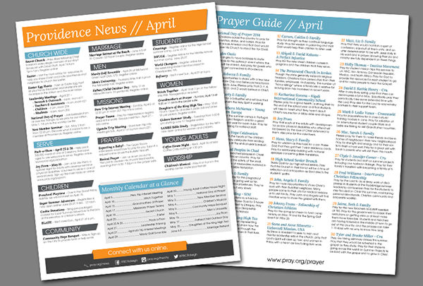 Weekly church bulletin layout on behance for Weekly bulletin template