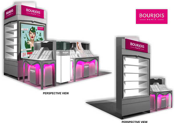 beauty corner booth counter