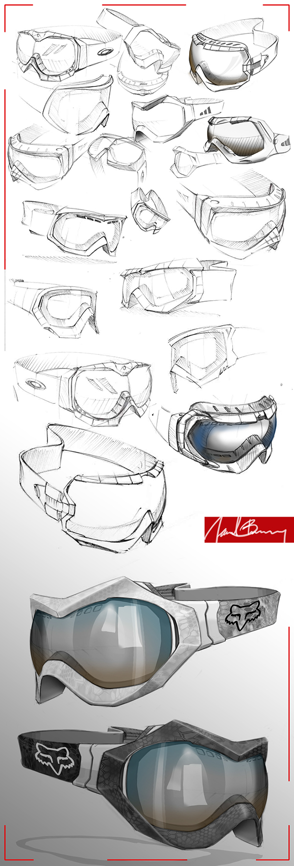 Mx And Mtb Goggles On Behance