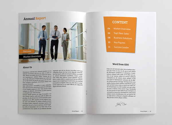 Clean and Simple Annual Report on Behance – Simple Annual Report Template