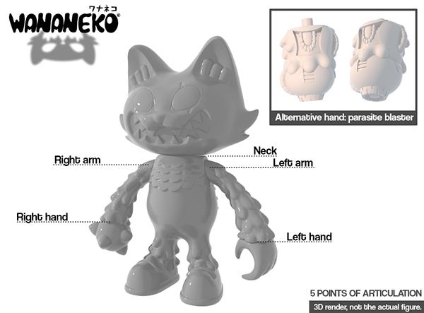 Making a Japanese soft vinyl toy: Wananeko on Behance