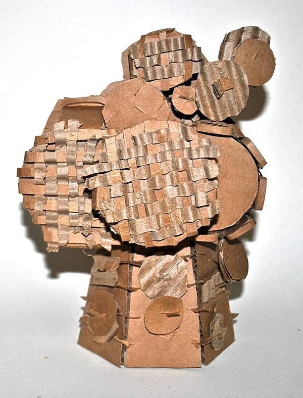 carboard texture weaving circles risd
