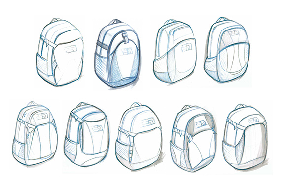 The North Face_ daypack sketches_TKAYAL