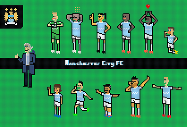 Pixel Art Mcfc Pixel On Pantone Canvas Gallery