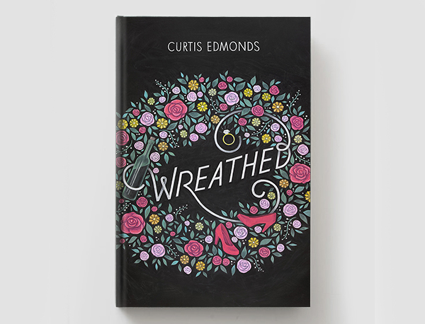 Chalkboard Cookbook Cover : Quot wreathed chalkboard book cover on student show