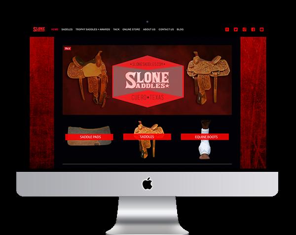 Slone Saddles Website/Branding on Behance