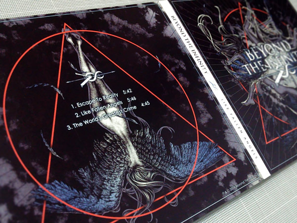 fallen angel Abyss t-shirt band merch cd artwork Void girl Lady wing