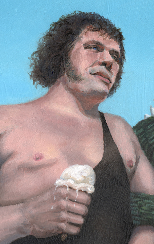 andre the giant godzilla Latham Water Tower