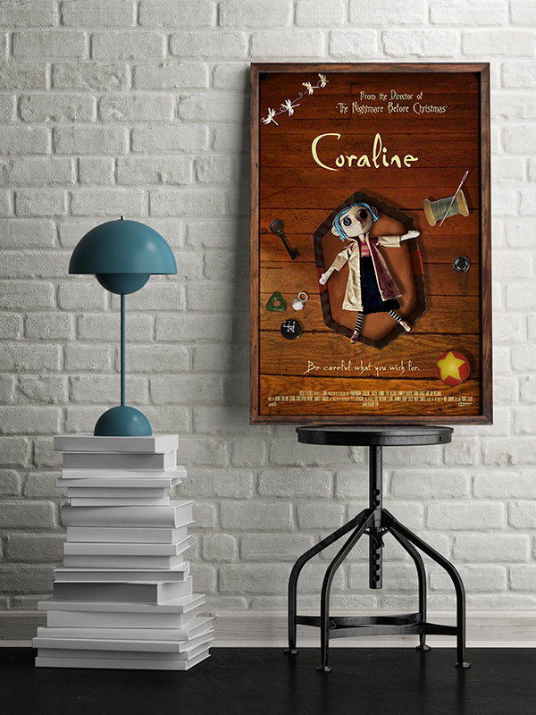 Coraline Movie Poster on Student Show