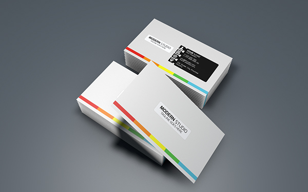 Realistic business card mockup cinema 4d on behance colourmoves