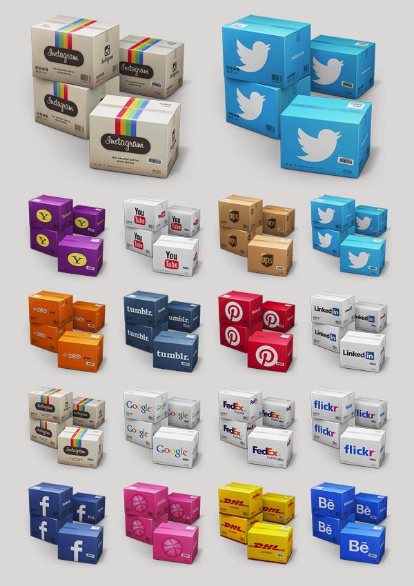 Icon twitter antrepo instagram social media dribbble flickr