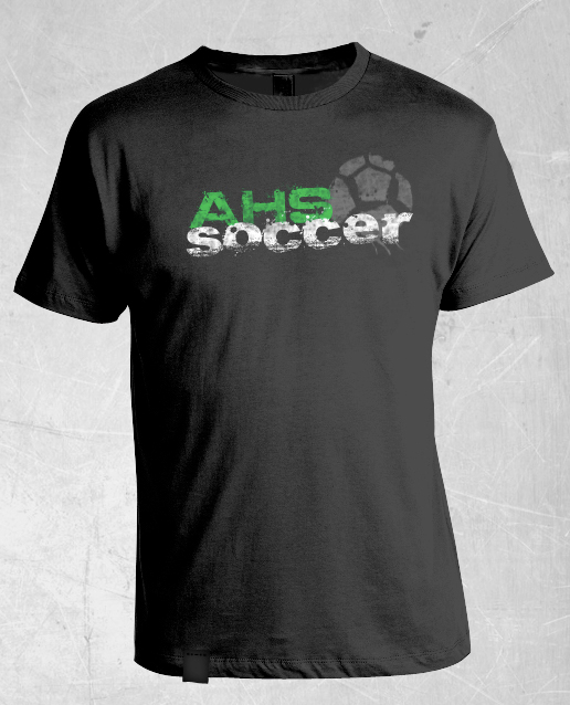 tshirt design for arlington high school soccer team on