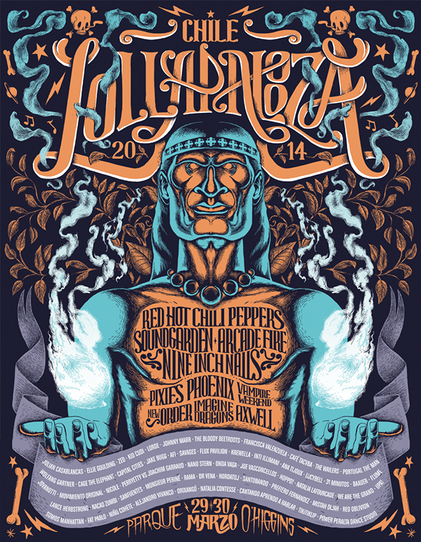 lollapalooza poster on behance
