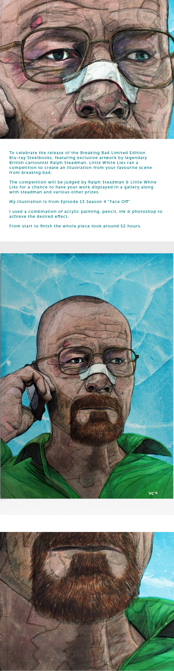 b193a4ca0d69 Little White Lies Illustration Entry - Breaking Bad on Behance