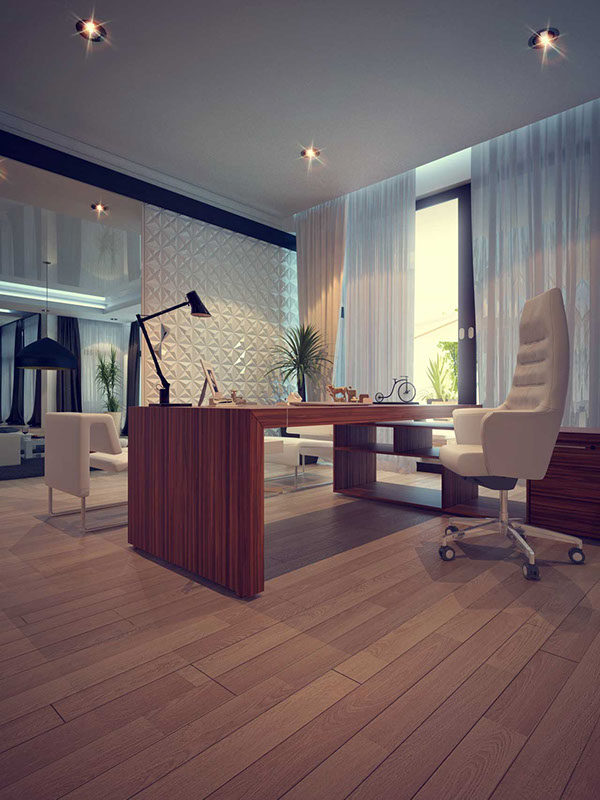 Luxury Home Office In A Private House On Behance