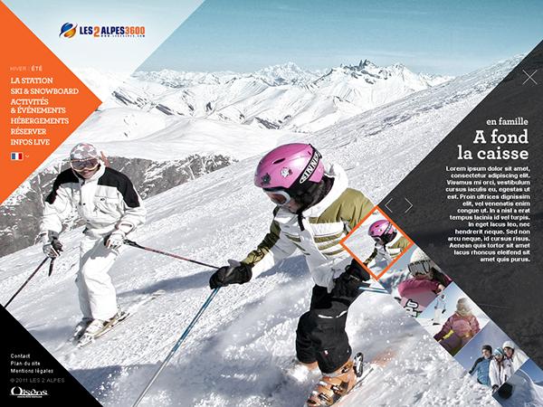 Les 2 alpes ski resort on web design served for Designhotel ski