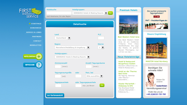 Hotel reservation system website on behance for Site reserver hotel