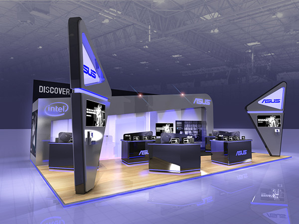 Sungard Exhibition Stand Stands For : Asus exhibition stand design on behance