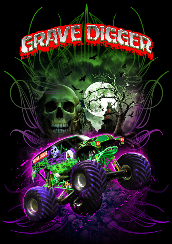 Used Trucks San Diego >> Grave Digger on Behance