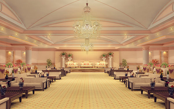 Banquet halls interior on behance for Banquet hall designs layout