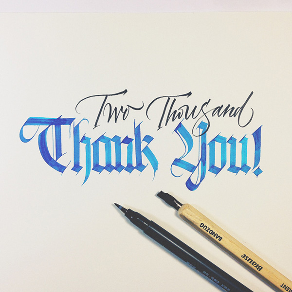 Just for fun calligraphy by joan quir�s