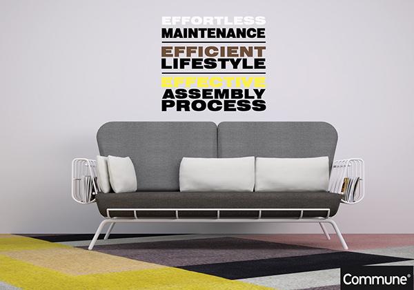 Merveilleux Contour Couch   Lightweight Sofa Design On Behance