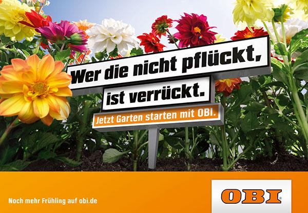 "Großartig OBI ""Frühlings-Kampagne"" on Pantone Canvas Gallery HB15"