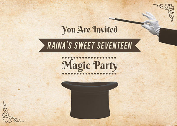 Magic Party Invitation on Behance – Magic Party Invitations
