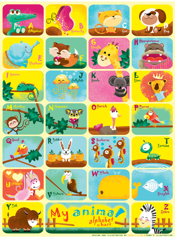 Animal Alphabet Chart on Behance