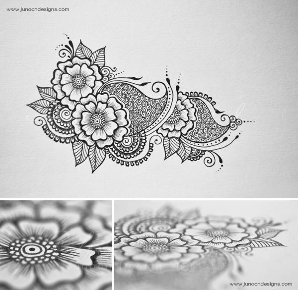 henna tattoo tutorial on behance. Black Bedroom Furniture Sets. Home Design Ideas